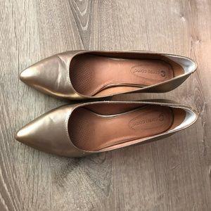 Corso Como Heels, Pointed Toe Leather